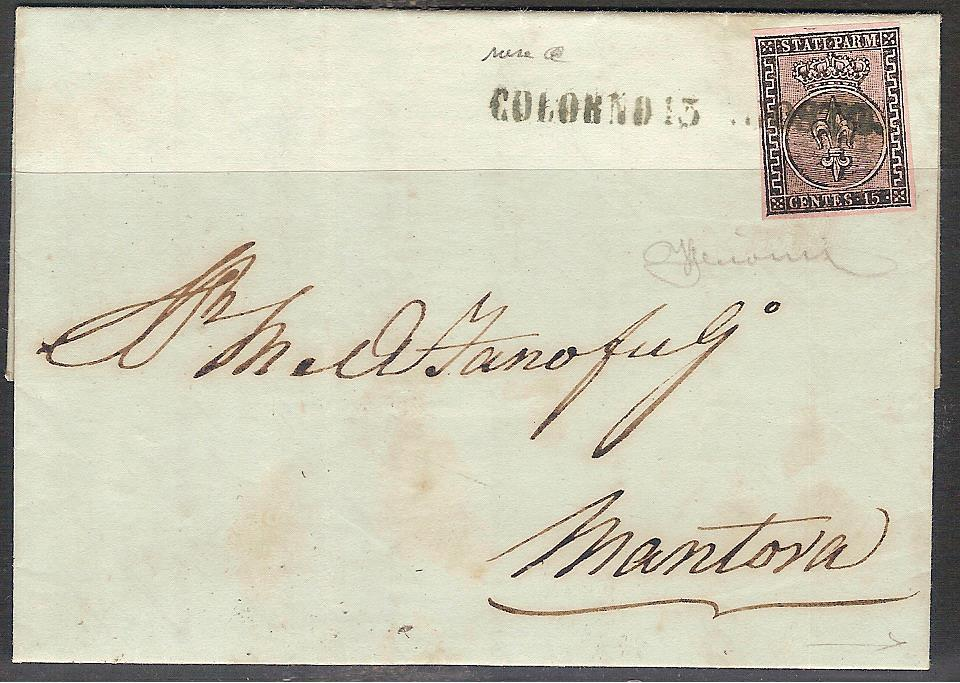 Parma lettera 15c.rosa 001