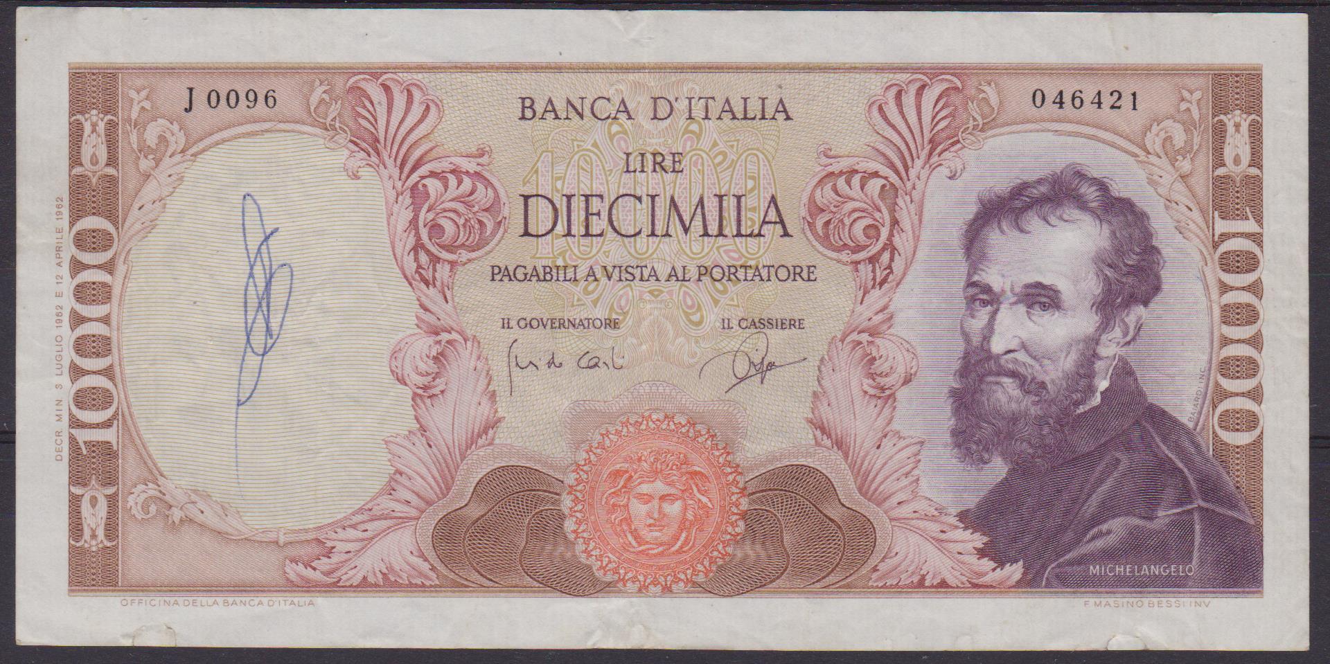 banconota l.10000 1 001