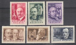 ** 1955 BELGIO INVENTORI ( 973/78) MNH CAT. € 40,00