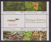 Costa Rica 2011 leopard frogs animals flowers klb h.v. MNH