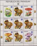 PARAGUAY FUNGHI MUSHROOMS 9 V. IN SHEET MNH SCOUT