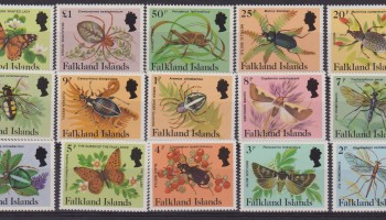 Falkland 1984 – Butterfly farfalle insetti insects 403/17 MNH