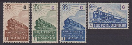 1945 FRANCIA TRENI FERROVIE TRAINS RAILWAYS 221/34 MH