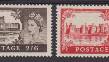 ** 1955 GRAN BRETAGNA GREAT BRITAIN MNH CASTELLI CASTLES Q.E.II 283/86 CAT. € 420,00