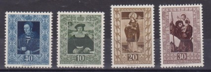 ** 1953 LIECHTENSTEIN QUADRI ARTE PAINTING 373/276 MNH CAT. € 150,00