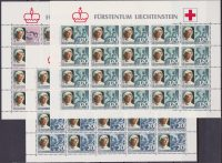 Liechtenstein 1985 – Croce Rossa Red cross 3 Minifogli MNH