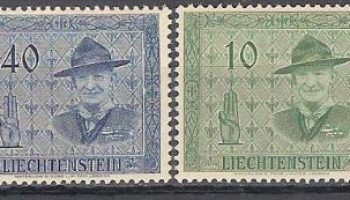 1953 LIECHTENSTEIN SCOUT MNH (277/280) CAT. €60,00