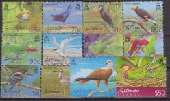 Solomon Is. 2001 Birds Uccelli oiseaux – 960/71 MNH