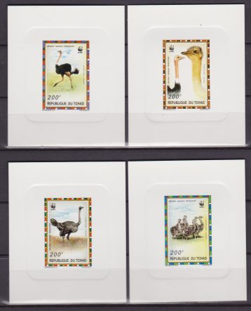 REP. DU TCHAD ANIMALS WWF 4 SHEET LUX MNH