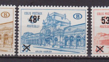 BELGIO /BELGIUM /BELGIE – 1970 OLD STATION ARLON RAILWAY overprint 403/05