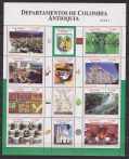 Colombia 2008 Turism City Art Fauna Monuments Bird sheetlet mnh