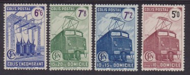 1945 FRANCIA TRENI FERROVIE TRAINS RAILWAYS 230/33 MNH ( 6F MH )