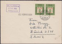 GERMANY : 1953 IFRABA on cover to Switzerland