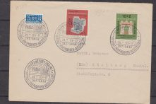 GERMANIA : 1953 IFRABA on cover to Stolberg