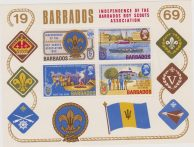 Barbados 1969 Independence of the Barbados Boy Scouts sheet MNH