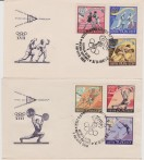 Russia USSR 1960 OLYMPICS GAME ROMA 4 FDC SPORTS