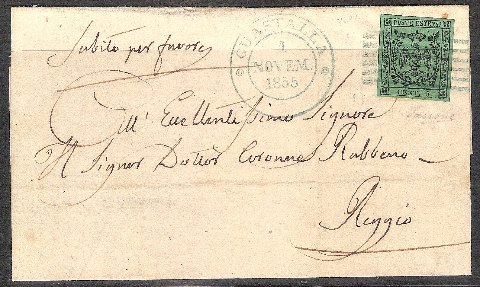Modena lettera 5c. verde 001