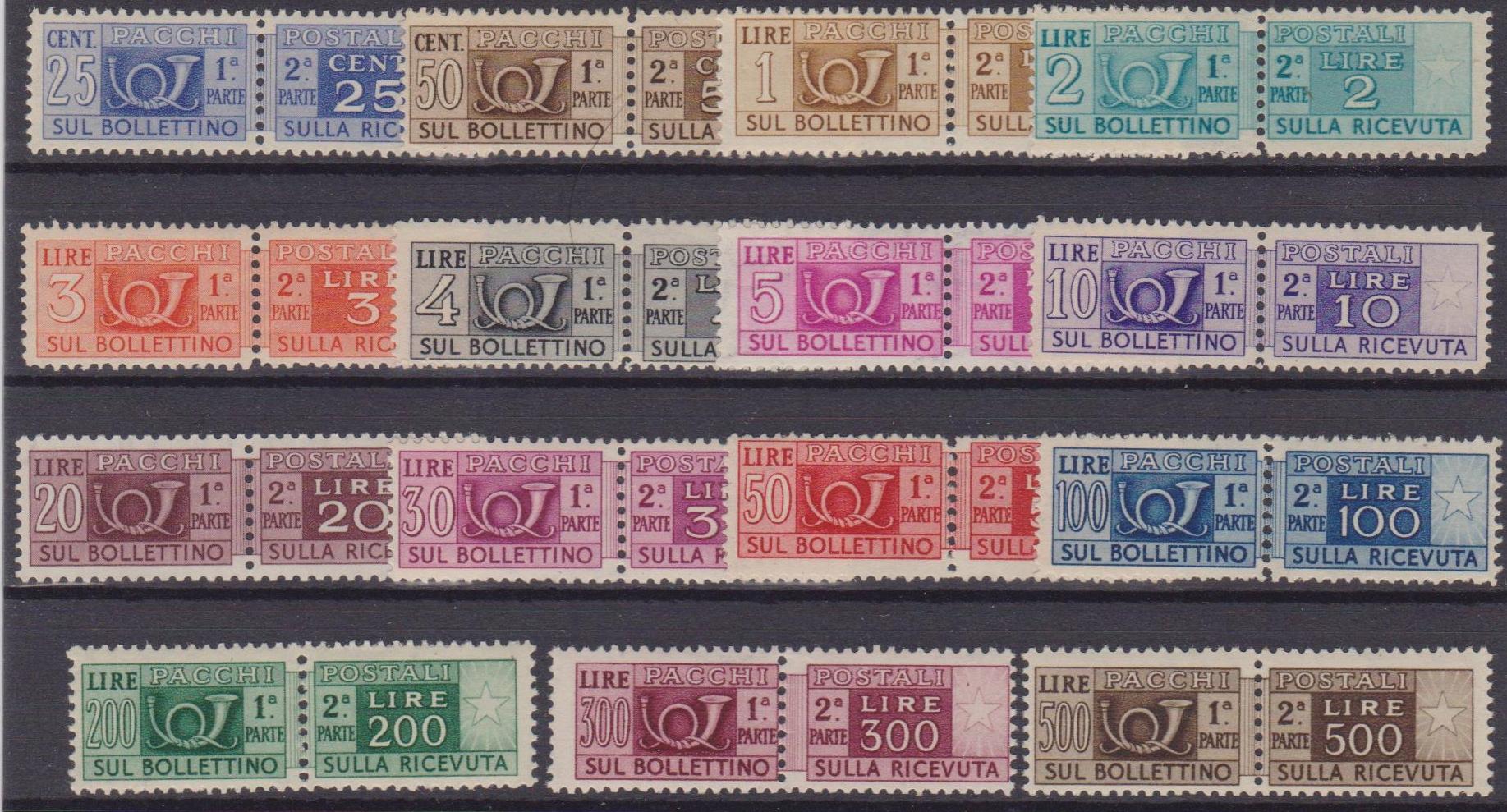 Italia 229 ** 1948-51 Corno di Posta e cifra serie ...