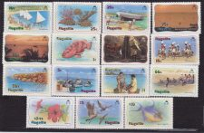 Anguilla – 1982 Turistica fauna fishes bird, Def. set MNH