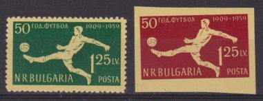 BULGARIA BULGARIEN BULGARIE 1959 NATIONAL FOOTBALL 1 + 1 IMPERF 987/988 MNH