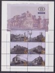 Belgio Belgie 2006 Treni Locomotives / trains / railway / rail / transport sheet