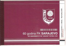"2006 BOSNIA ERZEGOVINA LIBRETTO BOOKLET CALCIO FOOTBAL CLUB ""FK SARAJEVO"""