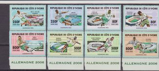 COSTA D'AVORIO COTE D'IVOIRE WORLD CUP GERMANY 2006 SOCCER / CALCIO / FOOTBALL 8 V. MNH