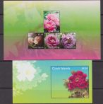 Cook Is 2011 Peony Peonies Flowers Plants Nature 4+S/S MNH