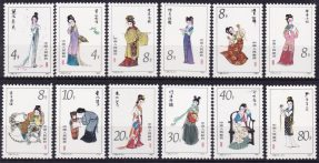 China / Cina 1981 – Beauties of Dream of Red Mansion, costumes, Mi. 1767/78 MNH