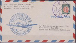 Cina 1947 First Flight Shanghai to San Francisco Primo volo –