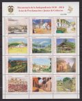 Colombia 2010 – 200° ann. indipendenza quadri dipinti art painting sheetlet mnh