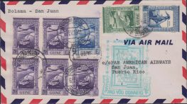 Portuguese Guinee 1941 First Flight cover, Boloma to San Juan