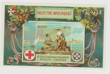 MALTA CROCE ROSSA RED CROSS SHEET MNH