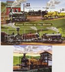 Monzambico Reilway Trains of the world Treni Locomotive, 6 v + sheet MNH