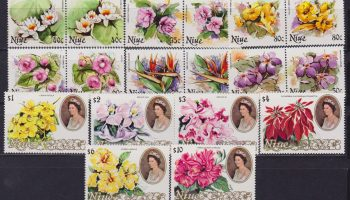 Niue Flora Flowers – Orchids 18 Values MNH