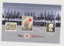 NORFOLK IS. CROCE ROSSA RED CROSS SHEET MNH