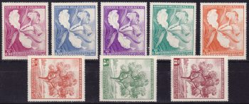 Paraguay 1961 – Fiori Flowers orchid 790/94+A405/7 MNH