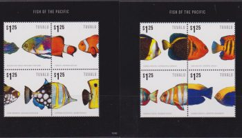 Tuvalu Pesci Fishes 2 S/S MNH