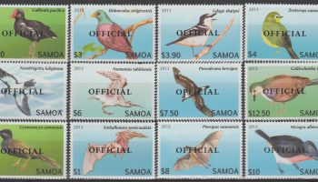 "Samoa – Uccelli / Birds / def. set. overprint ""OFFICIAL"" MNH –"