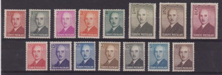 TURCHIA TURKEY – 1948 PRESIDENTE ISMET 1060/74 MNH/MH