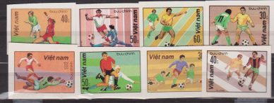 VIETNAM Football 1982, Vietnam Soccer MNH IMPERF SET
