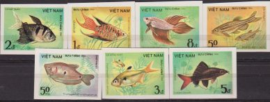 VIETNAM PESCI FISHES MNH IMPERF SET
