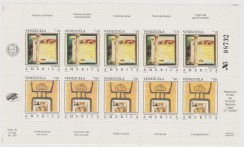 VENEZUELA UPAEP 1994 UPAEP ARTE ART CARTE DA GIOCO PLAY CARD SHEET MNH