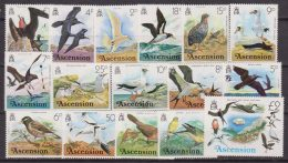 Ascension Is. Fauna Birds Uccelli oiseaux 197/212 MNH