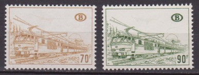 BELGIO /BELGIUM /BELGIE – 1972/3 TRENI LOCOMOTIVE / TRAINS LOCOMOTIVE 423/4