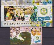 Tanzania Rotary / Medical / red cross/ health 4 + S/S mnh