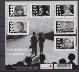 Francia Croce rossa Red Cross cinema sheet mnh