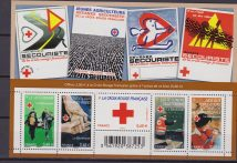 Francia Croce rossa Red Cross sheet mnh