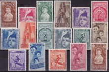 142 ** 1937 – Colonie Estive n. 406/415+A100/105. Cat. € 800,00. SPL