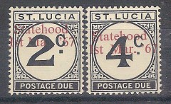 ** St Lucia Stamps MNH Overprint In Red Rare Scott Value $190.00